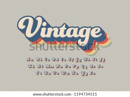 Vector of stylized modern font and alphabet Royalty-Free Stock Photo #1194734515
