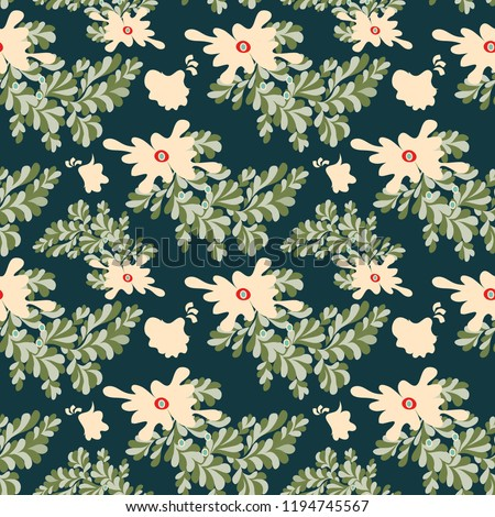 abstract flowers seamless pattern for your design #1194745567