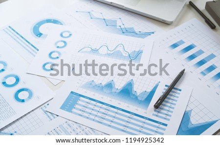 businessman working data document graph chart report marketing research development  planning management strategy analysis financial accounting. Business  office concept. Royalty-Free Stock Photo #1194925342