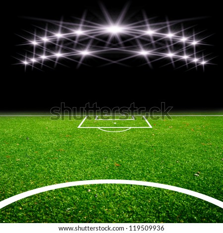 soccer field with the lights #119509936