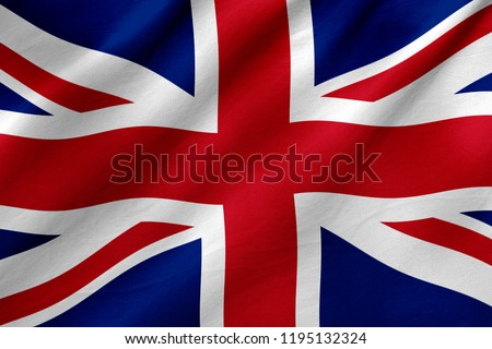 UK flag- Unated Kingdom flag, national flag concept Royalty-Free Stock Photo #1195132324