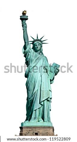 American symbol - Statue of Liberty. New York, USA. Royalty-Free Stock Photo #119522809