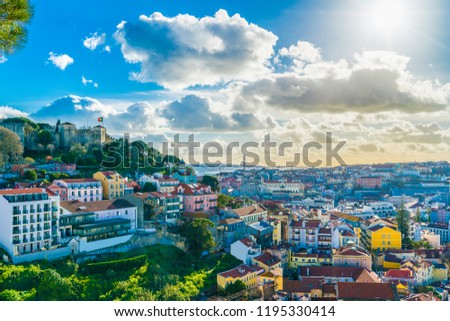 View of Lisbon at sunny day, Portugal #1195330414