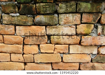 Old brick background at beautiful vintage style #1195452220