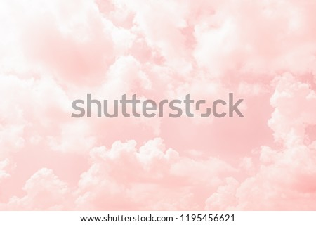 Abstract color of clouds and sky on pink in sunshine for texture background. Royalty-Free Stock Photo #1195456621