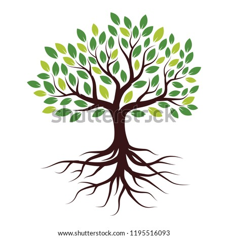 Illustration Tree with Roots Royalty-Free Stock Photo #1195516093