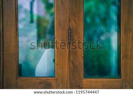 Window with a view of the garden  #1195744447
