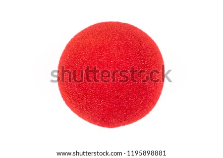 Red Nose Day, red nose on white background #1195898881