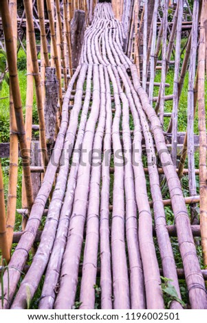 Small bridge with rice field, Thailand. #1196002501