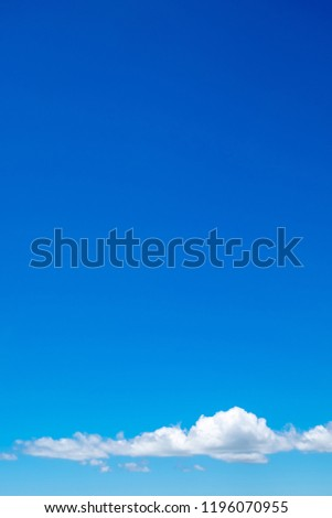 Blue sky and white clouds. Copy space background. #1196070955