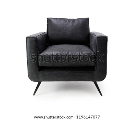 Chair isolated on white background. Series of furniture, Armchair, furniture for different spaces  #1196147077