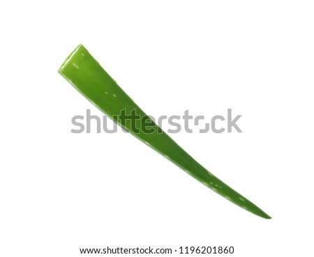 Aloe vera leaf on white background #1196201860