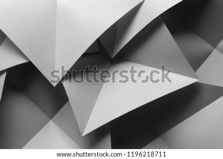 Macro image of composition with bright geometric shapes, 3d illustration #1196218711