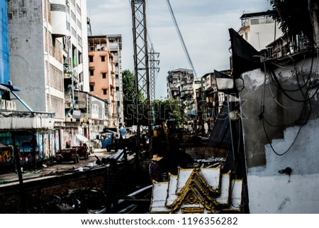 On September 30, 2018, a canal was built and excavated at Pahurat. Bangkok Thailand #1196356282