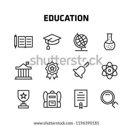 Education Thin Line Icons for mobile apps, websites and so Royalty-Free Stock Photo #1196390185