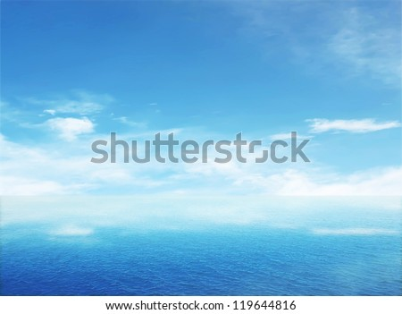 Beautiful sea on sunny day with blue sky #119644816