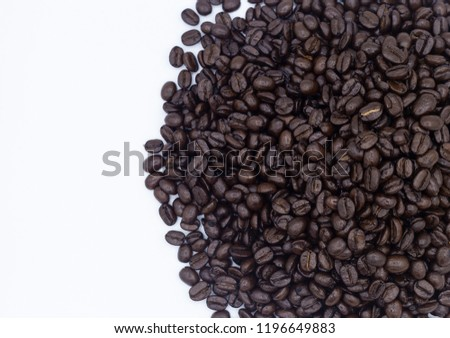 coffee beans isolated on white background #1196649883