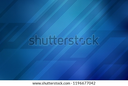 Light BLUE vector cover with stright stripes. Glitter abstract illustration with colored sticks. Smart design for your business advert. Royalty-Free Stock Photo #1196677042