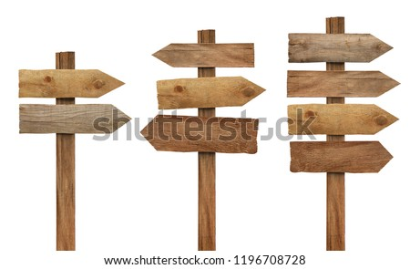 close up of a wooden sign on white background  #1196708728