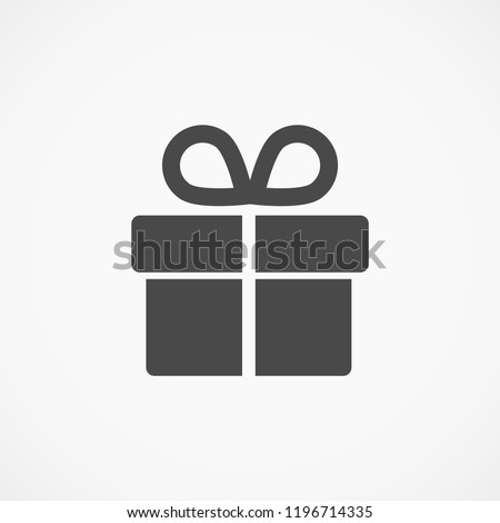 VECTOR ICON GIFT Royalty-Free Stock Photo #1196714335