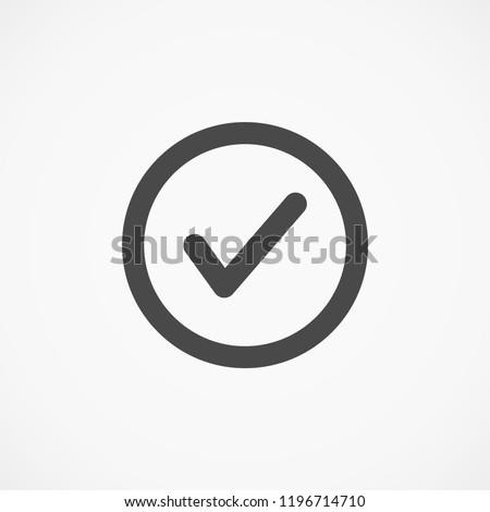 tick vector icon