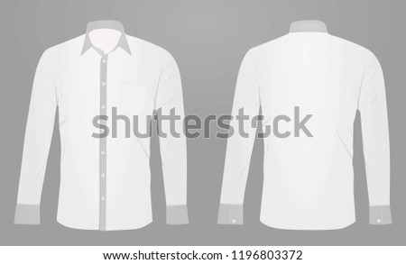 White long sleeved shirt. vector illustration #1196803372