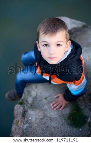 cute boy near the lake #119711191