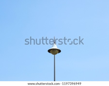 street lamp post with blue sky background #1197396949