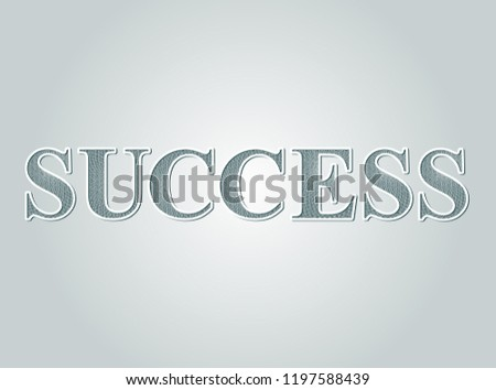 Business concept Success text guilloche pattern certificate style. #1197588439