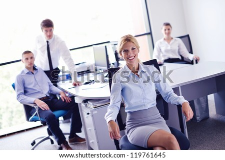 business people  team  group  on a meeting have success and make deal #119761645