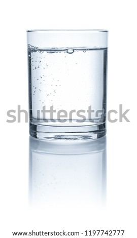A glass with water on a white background #1197742777