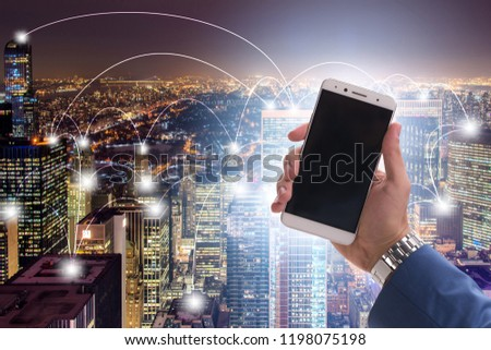 Smart city in innovation concept #1198075198