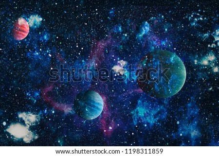 he explosion supernova. Bright Star Nebula. planets, stars and galaxies in outer space showing the beauty of space exploration. Distant galaxy. Abstract image. Elements of this image furnished by NASA #1198311859