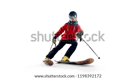 Skiing sport isolated #1198392172