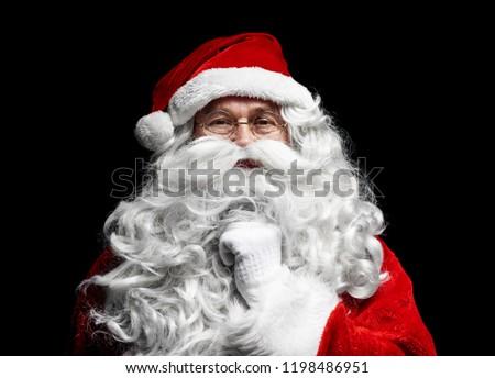 Close up of santa claus's human face  #1198486951