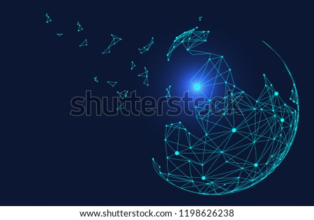 point and line composed world map,representing the global,Global network connection,international meaning.  #1198626238