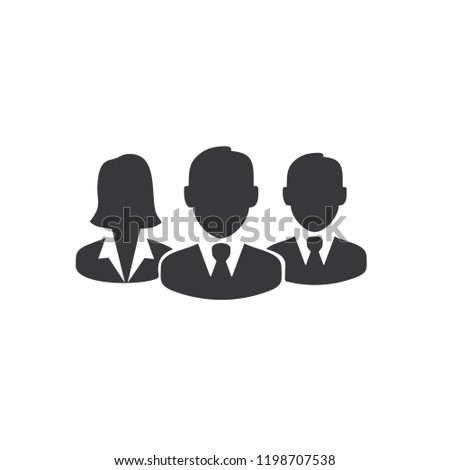 Workers team icon logo Royalty-Free Stock Photo #1198707538