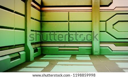 futuristic design spaceship interior