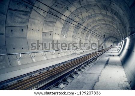 "Building of railway tunnel. ""Ejpovice tunnel"". Railway corridor construction #1199207836"