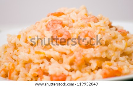 Plate of Shrimps Risotto #119952049