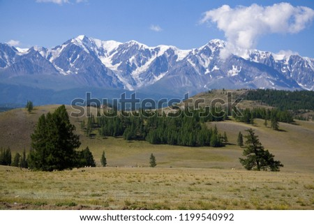 view of the glaciers and mountains of the Chui tract #1199540992
