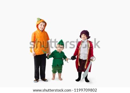 Cute kids in Halloween Costumes