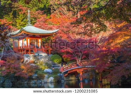 Daigoji Temple Kyoto.Autumn foliage Japan #1200231085