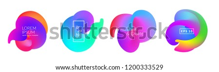 Abstract fluid shapes isolated on white. Eps10 vector. #1200333529