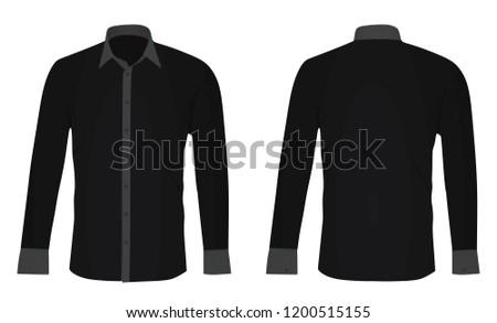Black long sleeved shirt. vector illustration #1200515155