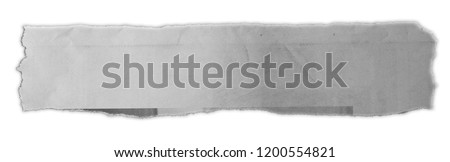 Piece of torn paper isolated on plain background  Royalty-Free Stock Photo #1200554821
