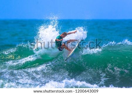 Jaco Beach, Costa Rica, October 7, 2018: Essential Costa Rica Surf Pro, World Surf League, Tournament #1200643009