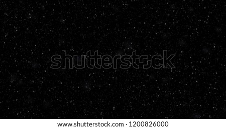 Snowfall on a black background. 3D rendering #1200826000