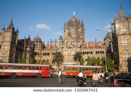 Chhatrapati Shivaji terminus VT stationMumbai city Maharashtra state India clicked on 10/03/2006 #1200887431