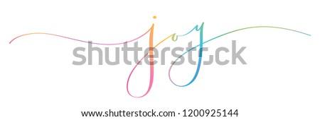 JOY brush calligraphy banner Royalty-Free Stock Photo #1200925144